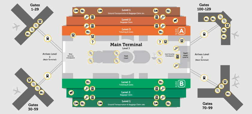 Map Of Mco Airport Car Rental