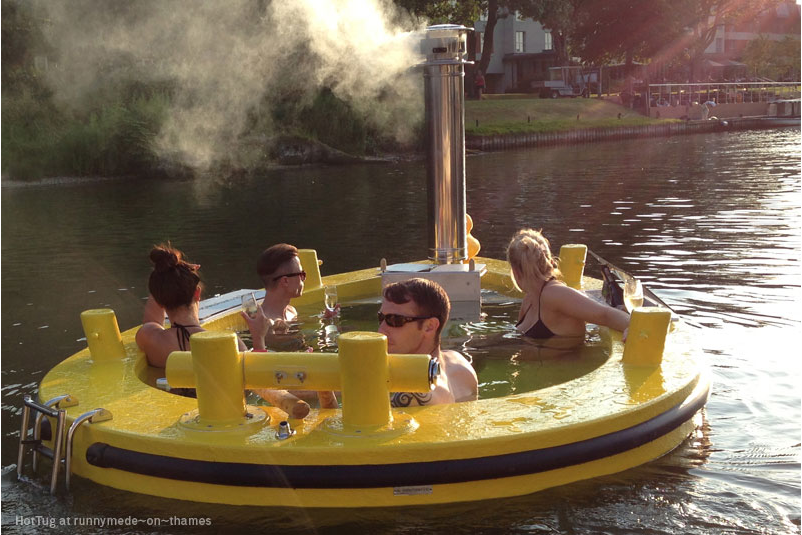 Imagine…Floating In A Canal…In Your Own Hot Tub (yes, really!)