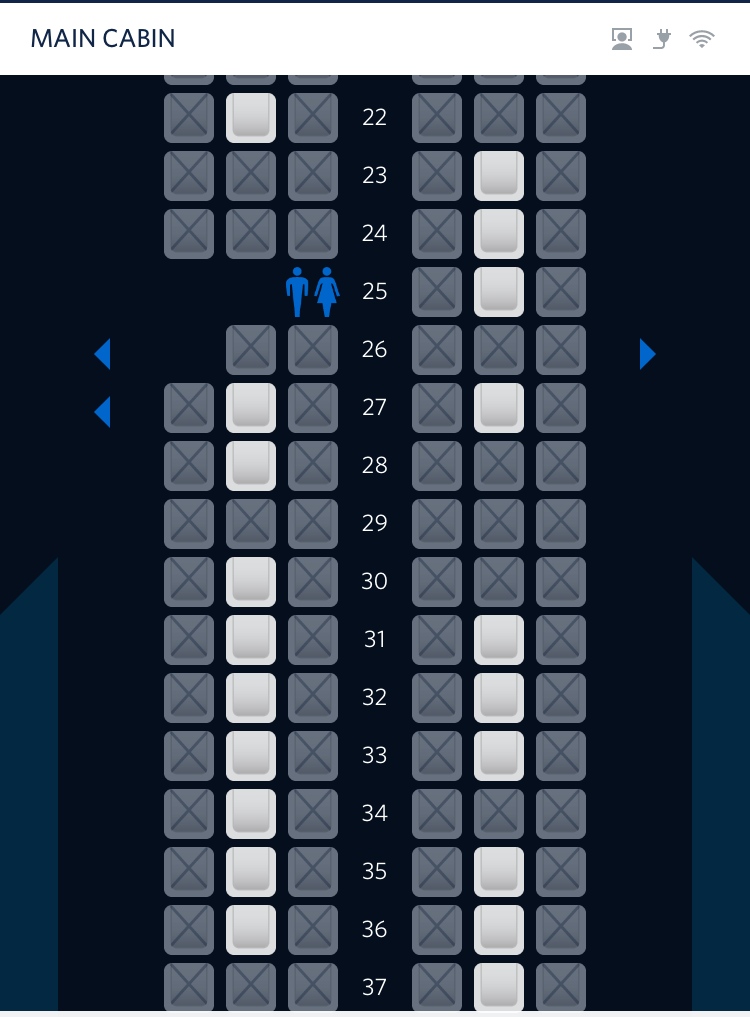 Middle seats