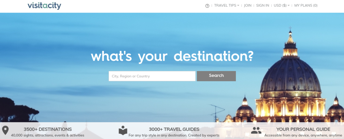 Know Where You're Going But Need Help With An Itinerary? Try Visitacity!