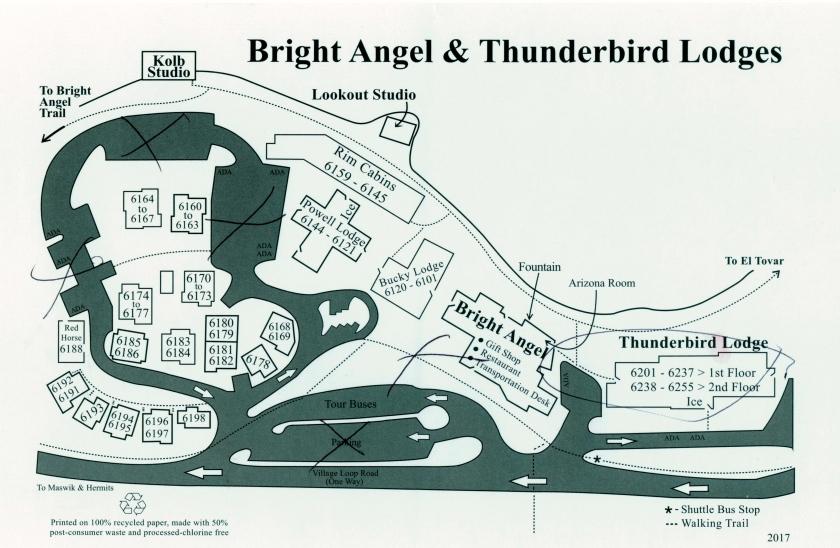 Bright Angel & Thunderbird Map