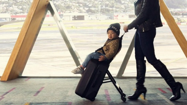 A Carry-On Bag That Doubles As A Baby Stroller