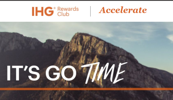 Sign Up Now For The New IHG AcceleratePromotion