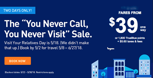 JetBlue TWO DAY Sale – Make Your Reservations Before They're All Gone!