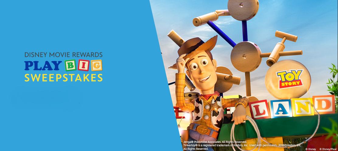 Official Disney Sweepstakes: Disney Movie Rewards Play BigSweepstakes!